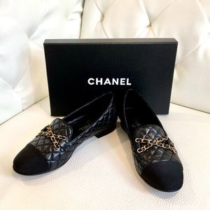 Chanel CC Chain Loafers
